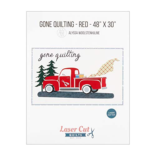 Laser Cut Quilts 0671887 Gone Quilting Firehouse Red Laser Cut Applique Kit Stoff, Textil -