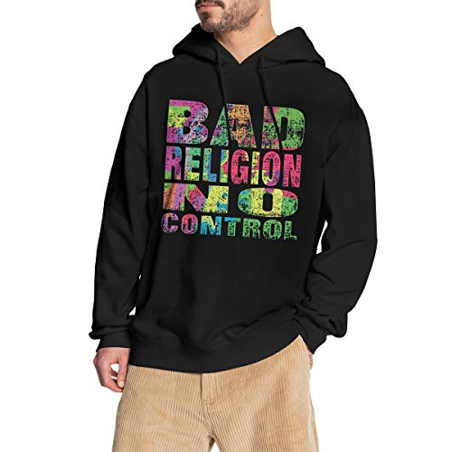 GJINNANFANGBEN Junge Bad Religion Soft No Control Hoodie Fashion Sweatshirt Pullover Black S