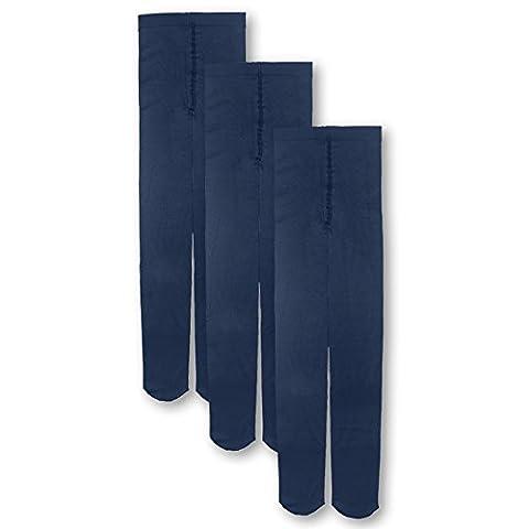 Lot de 2-3 Paires Collant Bébé Enfant Fille 1-14ans coloré pour automne ou hiver tient chaud opaque-Leggings chaussette long enfants (1-3ans, Bleu Marine)