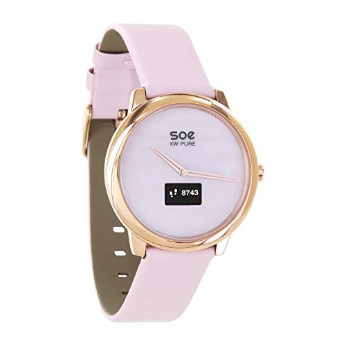 X-WATCH │ SOE XW Pure │ Smartwatch Damen elegant - Damen Uhr rosegold - Fitness Tracker Damen - Damen Fitnessarmband