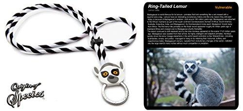 Preisvergleich Produktbild Original Lanyards Origin of Species Ring Tailed Lemur Schlüsselanhänger Unisex Erwachsene, White Stripes