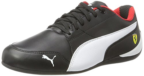 Puma Unisex-Erwachsene SF Drift Cat 7 Sneaker, Schwarz Black-White, 48.5 EU (Puma Cat Ferrari Drift)
