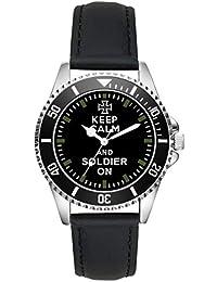 Soldier Gift Bundeswehr - Reloj de Pulsera, diseño con Texto en inglés Keep Calm Watch