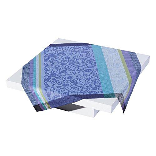 Le Jacquard Francais Nappe enduite Provence Coton Bleu Lavande Rectangulaire 175 x 320 cm