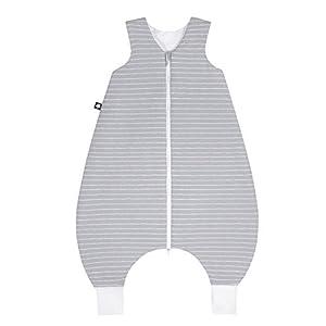 Julius Zöllner 9082769320Jersey Jumper–Saco de dormir con patas–Grey Stripes Talla 92, gris