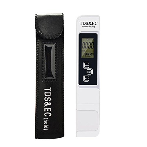 Wasser Qualität Test Meter, Yakamoz-in Multifunktional TDS Messgerät mit TDS EC und Temp, 0–9990ppm TDS-Messbereich, Auflösung 1ppm, +/-2% Anzeige Genauigkeit