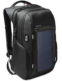 8cee8b1bf7 QWERASD Zaino Solare con Built-in Pannello Solare Caricabatteria Alimentato  A Batteria di Backup per