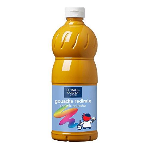 Lefranc & Bourgeois Gouache Redimix Color and Co-, Gelber Ocker, Tempera Kinderfarbe - 1000ml