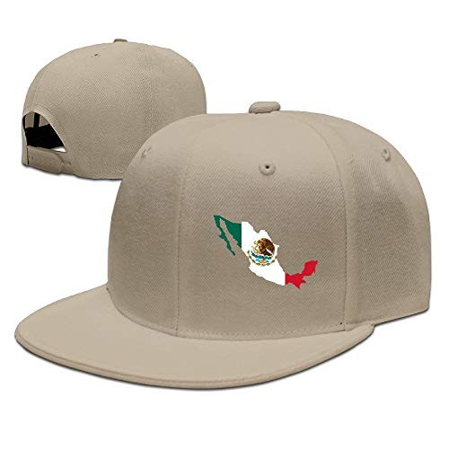Xdevrbk CapHat Cool Die Geschichte der mexikanischen Flagge Flat Bill Baseball Cap Multicolor84
