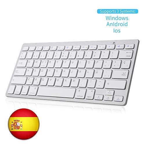SENGBIRCH Teclado Bluetooth Español, Light Teclado Inalámbrico
