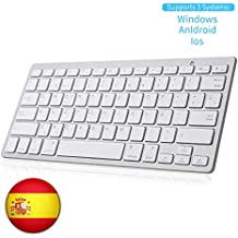 SENGBIRCH Teclado Bluetooth Español, Light Teclado Inalámbrico Portátil para iPhone de iOS, iPad,