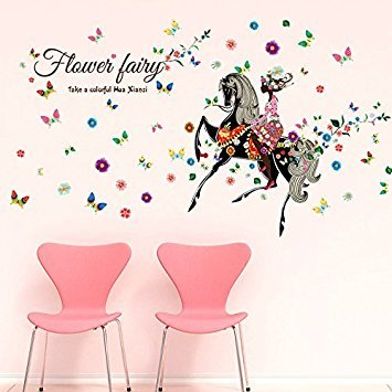 Clest F & H Sticker mural DIY Stickers muraux Papillon et Lovely Ballet Filles Poster Stickers pour Home Decor Décoration