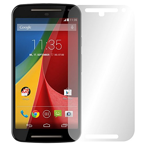 "4 x Slabo Displayschutzfolie Motorola Moto G 2. Generation Displayschutz Schutzfolie Folie ""Crystal Clear"" unsichtbar MADE IN GERMANY"