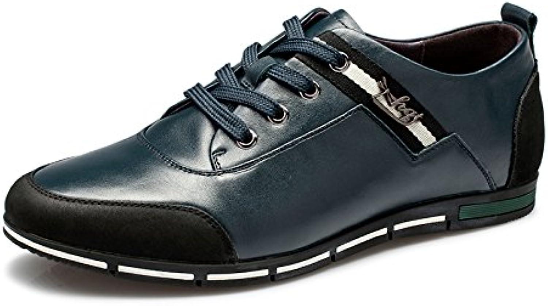 男 Aemember Zapatos Primavera y otoño casual trenza metálica confort zapatos de hombre zapatos ,38, azul