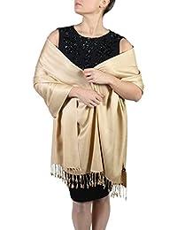 05eabe77f8bded York Shawls Handcrafted Pashmina Wrap Shawl - Tassel Finishing - Free  Hanger (25+ Colours