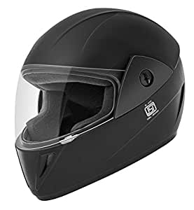 Gliders. Jazz Full Face ABS Shell Helmet (Black with Tinted Visor, 580 mm)