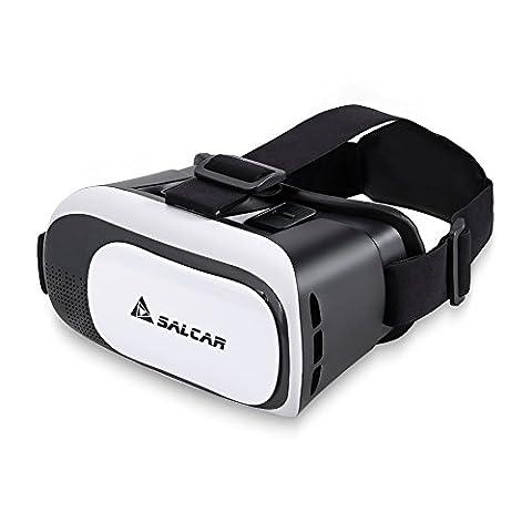 Salcar 3D Virtuelle Realität (VR) Brille für 4.5 – 6 Zoll Smartphones, Weiß