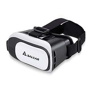 SALCAR Lunettes 3D réglable VR Casque de réalité virtuelle 3D Film et Jeux Vidéo Compatible avec Smartphone, iPhone 6, 6S, Samsung S6,S7 etc.
