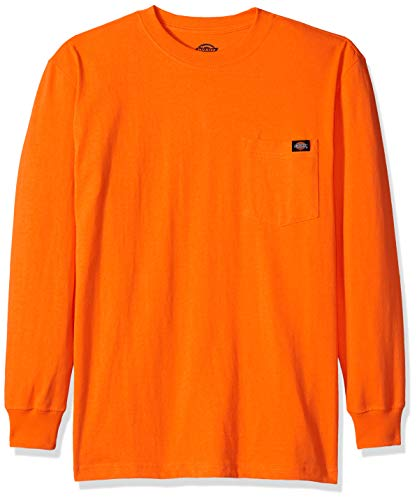 Heavyweight Long Sleeve Tee (Dickies Herren Long Sleeve Heavyweight Neon Crew Neck Tee T-Shirt, Hellorange, Large Hoch)