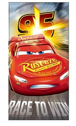 Disney cars asciugamano da bagno/telo doccia/telo mare 70 x 140 cm – cotone lightning mcqueen