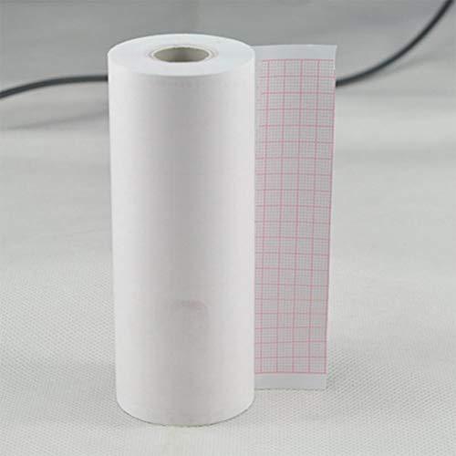 Yiwa EKG Thermodruckpapier, Cardiogramm-Aufnahmetapier, klarer Druck, kein Verblassen, 1 Rolle für...