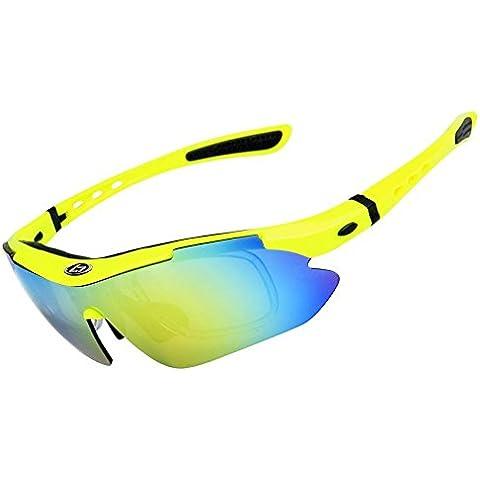 OPEL-R Equitación al aire libre deporte polarizado gafas/gafas de sol, viento HD PC y lentes de miopía gafas arena o dispositivo , Shiny