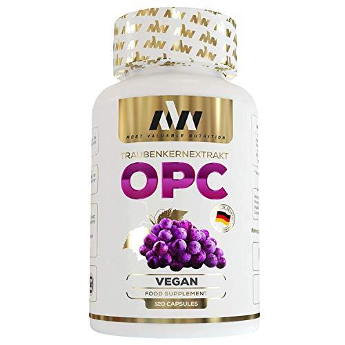 MVN® OPC Traubenkernextrakt Kapseln | Resveratrol | französische Weintrauben | Vegan | Hochdosiert + natürliches Vitamin C & E | Made in Germany
