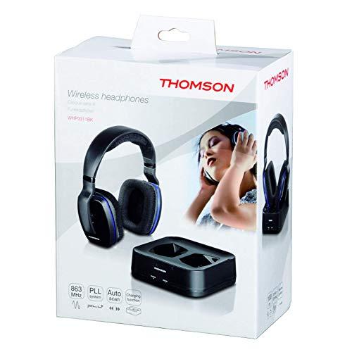Thomson WHP3311BK Funkkopfhörer mit Ladestation (Over-Ear, PLL-System, Reichweite 100 m, 863 MHz) schwarz - 6