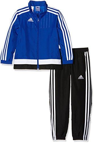 adidas Kinder Sportanzug Tiro15 pre su y, bold blau/Weiß/schwarz, 128, S22280
