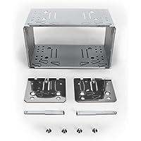 XOMAX Universal 2-DIN (Doble DIN) Marco de Montaje/ensamblaje del Eje de Metal + Juego Completo Incluye 4 Tornillos, 2 Placas de Montaje y 2 Retire Las Llaves