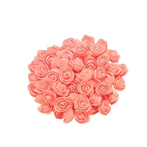 VICKY-HOHO 200PCS Schaum rot Rose Blume Geschenke für Hochzeit Geburtstag Valentinstag (Blume Schönheit Blush)