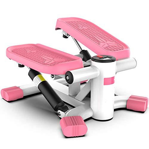 Shjfl Twist Stepper Hause Gewichtsverlust DüNne Taille Ofenrohr Up-Down-Stepper Rosa FitnessgeräTe