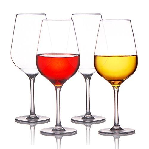 MICHLEY Tritan-Kunststoff Unzerbrechlich weinglaeser, rotwein trinkglas, gläser fur Camping Party,...