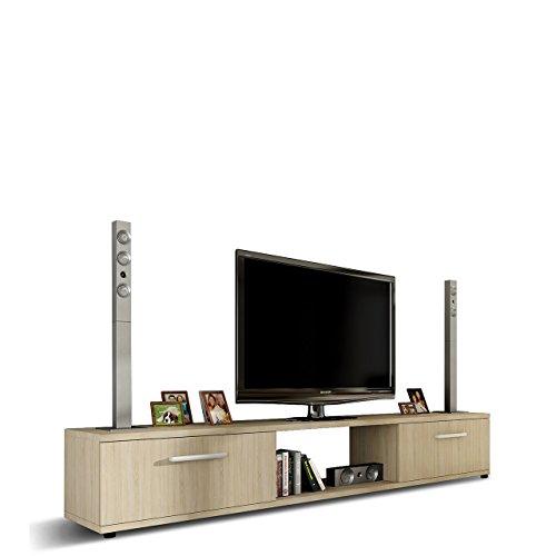 Mirjan24  TV Lowboard Board Horton I, TV Schrank, Tisch, Fernsehtisch B:176 cm, H:28 cm, T:40 cm, Fernsehschrank TV-Bank (Sonoma Eiche) -