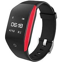 TianranRT Corazón Rate Actividad Curva superficie diseño inteligente música pulsera Watch para niños mujeres hombres (