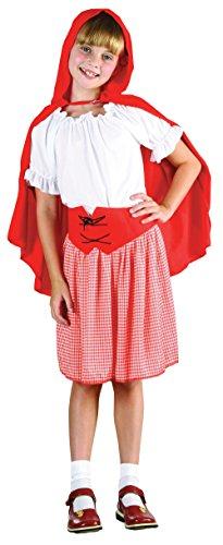 Bristol novelty - costume da cappuccetto rosso, taglia: l, per bambini, età; 7 - 9anni