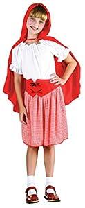 Theme Fancy Dress Disfraz de niña de Caperucita Roja. 10-13 años