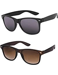 YS Mens Sunglasses Deal Of 2 Combo Set Offers Of 2 Sunglass (Black Brown) Wayfarer Sunglasses For Mens/boys/gents...