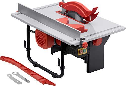 Meister Tischkreissäge 800 W, TS800M - HM Sägeblatt Ø 200 x 16 mm - Stufenlose Winkeleinstellung - Mit Gehrungs- & Parallelanschlag - Inkl. Schiebestock / Kreissäge mit Spaltkeil / 5461560
