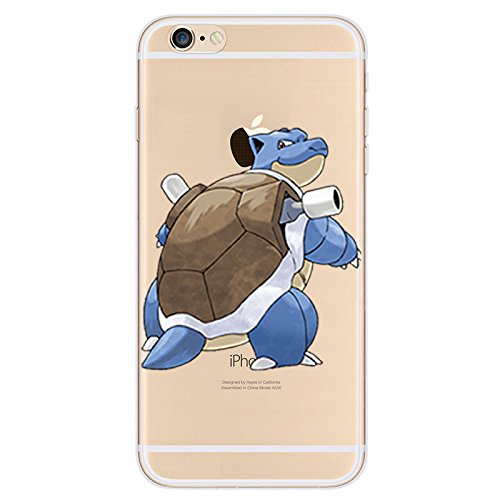 EatMyCase® für iPhone Modelle Pokemon Fall Collection - Custom Cute Cartoon Soft Gel TPU Back Cover Pen Stylus, 12: Blastoise, iPhone 6plus 6s+