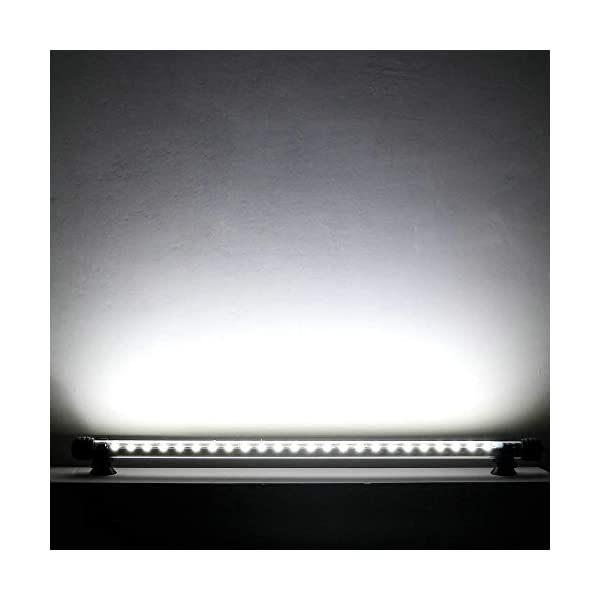 SUNICOL LED Aquarium Light, IP68 Cool White Waterproof Submersible Fish Tank Light for Living Room Restaurant Hotel (18cm)