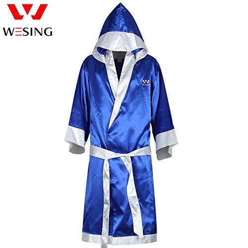Wesing - Bata de Boxeo con Capucha para Artes Marciales Mixtas, Hombre, Azul, XX-Large