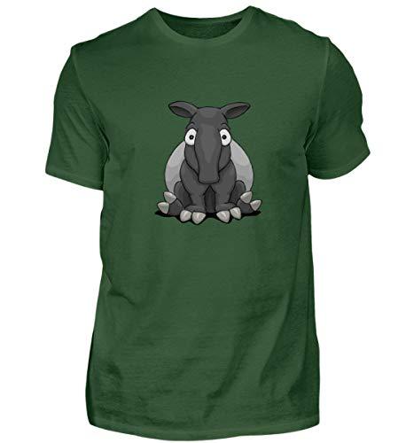 Shirtee lustiger Comic Tapir - EIN Muss für alle Freunde Dieses besonderen Tiers, dem Schabracken-Tapir - Herren Premiumshirt -XXL-Dark Green