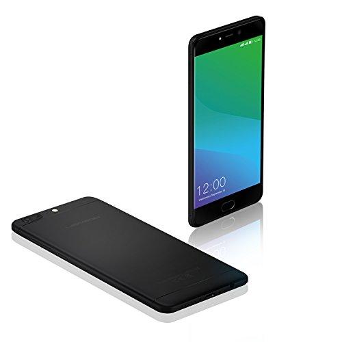 LEAGOO T5 - 5.5'' FHD Smartphone 4G (doppia fotocamera posteriore, Android 7.0, MTK6750T Octa Core 1.5GHz, 4gb RAM 64gb ROM, lettore di impronte digitali), nero