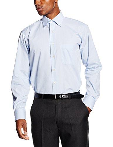BlueBlack Herren Businesshemd Ricardo Blau (hellblau 14)
