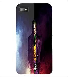 PrintDhaba Scary Joker D-4427 Back Case Cover for BLACKBERRY Z10 (Multi-Coloured)