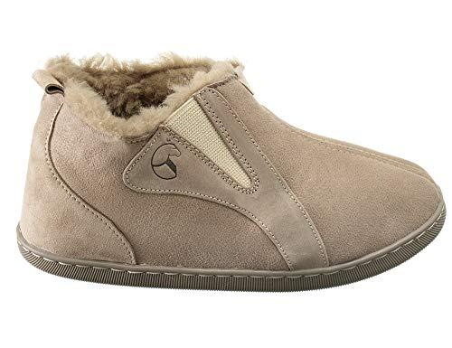 Estro Damen Hausschuhe Lammfell Pantoffeln Damen Leder Warm Winter Lammfellhausschuhe mit Wolle Royale (41, Beige)