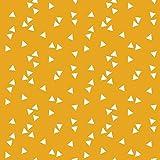 Baumwollstoff Dreiecke Gelb Webware Meterware Popeline