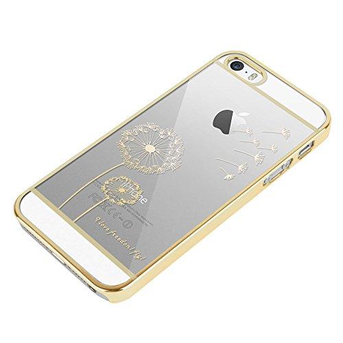 Apple iPhone 6 / 6s Handyhülle inklusive Displayfolie Frau mit Dackel Pusteblume
