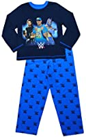 ThePyjamaFactory Boys WWE John Cena Seth Rollins Pyjamas Blue 6 to 12 Years W15
